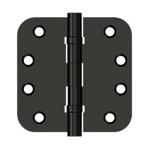 """4""""x 4""""x 5/8"""" Radius Hinges, Ball Bearing - Oil-rubbed Bronze Product Image"""