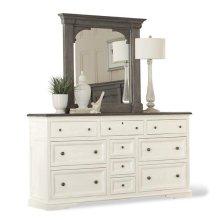 Juniper Ten Drawer Dresser Chalk/Charcoal finish