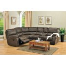 Ramsey Rodeo Brown Leather-Look Recliner Sectional, M6050 Product Image