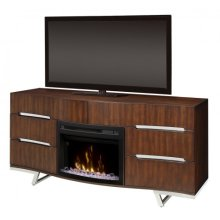 Valentina Media Console Electric Fireplace