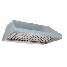 """48"""" Custom Hood Liner Insert designed for outdoor cooking in covered lanais"""