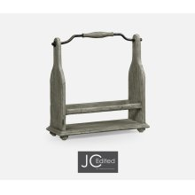 Wine Bottle Holder in Antique Dark Grey