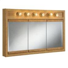 "Richland 6-Light Tri-View Wall Cabinet, 48"", Nutmeg Oak #530626"