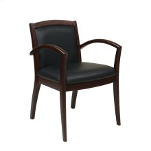 Napa Espresso Guest Chair With Full Cushion Back