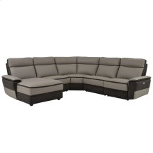 5-Piece Modular Power Reclining Sectional with Left Chaise