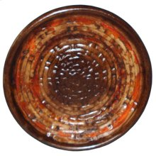 "Textured Orange 19"" Plate"