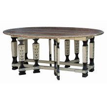 Faux Leg Drop Leaf Table 7'