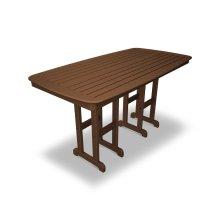 "Teak Nautical 37"" x 72"" Counter Table"