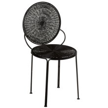 Black Spiral Wire Chair