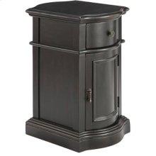 Reamus 1-door 1-drawer Cabinet In Dark Brown