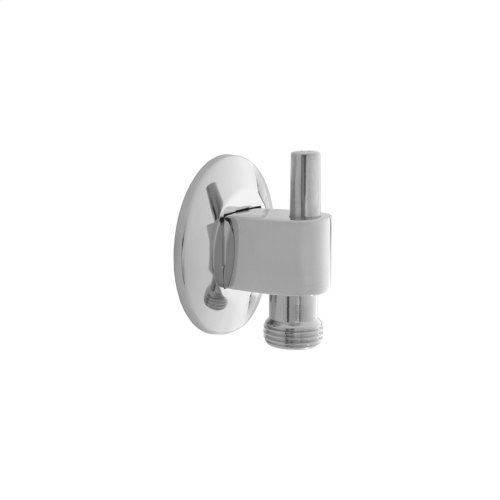 Satin Nickel - 90° Water Supply Elbow with Escutcheon- With Pinmount