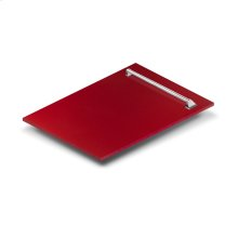 "18"" Dishwasher Panel in Red Gloss with Traditional Handle (DP-RG-18)"