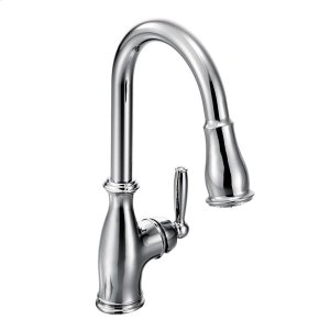 Brantford chrome one-handle pulldown kitchen faucet Product Image