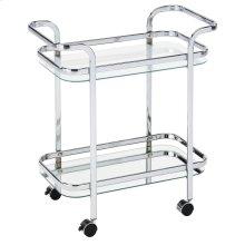 Zedd 2-Tier Bar Cart in Chrome