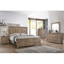 1055 Sante Fe King Bed with Dresser and Mirror