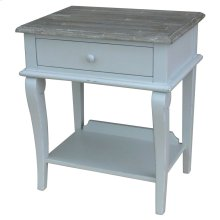 Scroll Side Table- Gry/rw