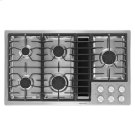 """Jenn-Air® 36"""" JX3™ Gas Downdraft Cooktop - Stainless Steel Product Image"""