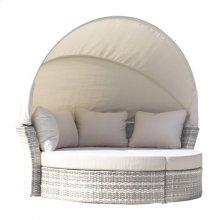 Santorini Canopy Daybed & 2 Ottomans w/cushion
