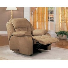 "ROCK RECLINER,BROWN/F 38""Lx38""Wx39-1/2""H"