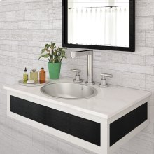 Taji Oval Undermount or Drop-in Stainless Steel Lavatory - Brushed