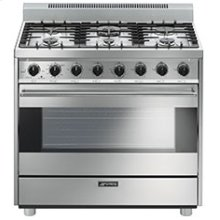 "Free-Standing Gas Range, 36"", Stainless Steel"