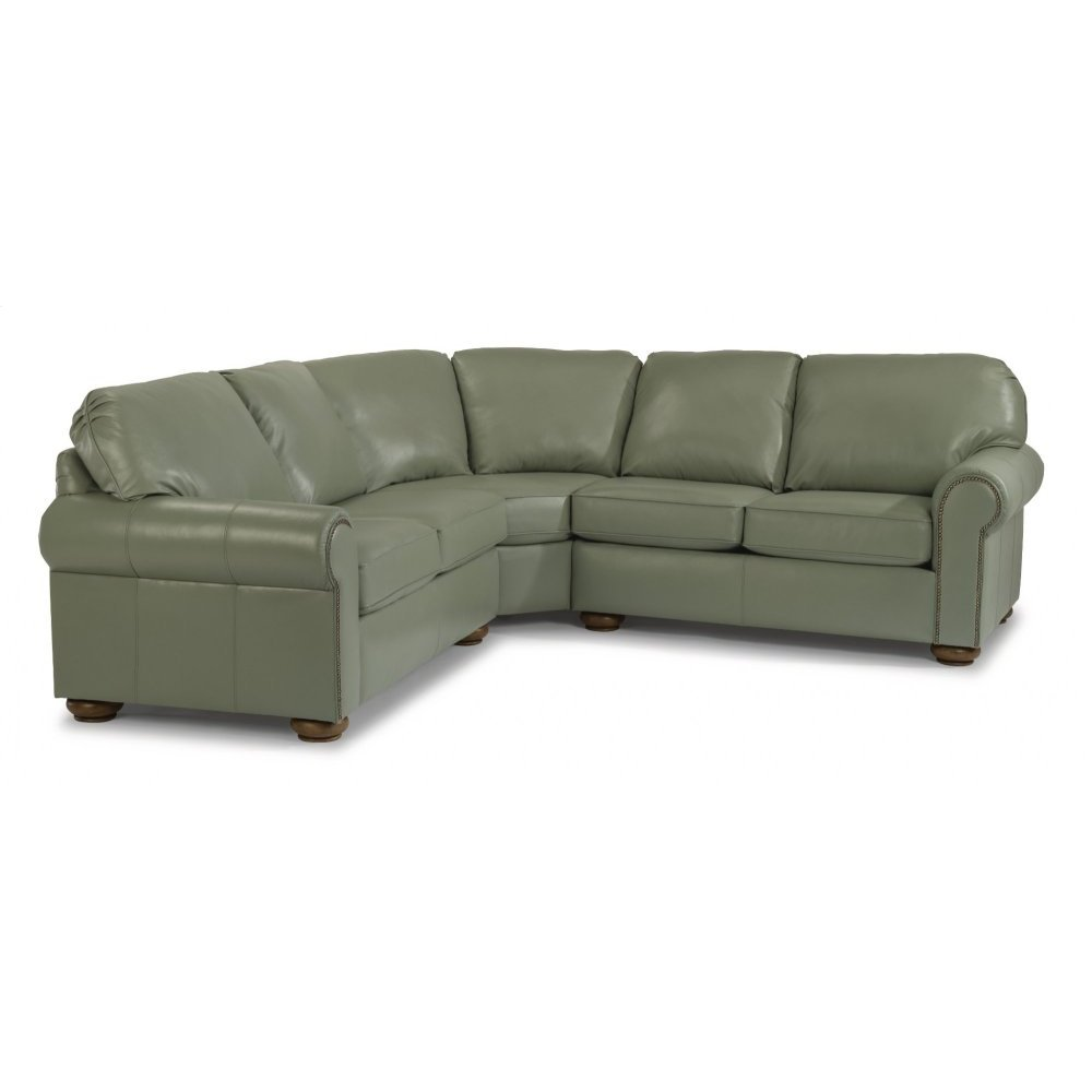 Preston Leather Sectional with Nailhead Trim