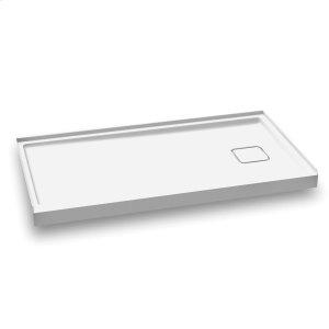 """Rectangular acrylic shower base 60"""" x 32"""" - Right drain Product Image"""