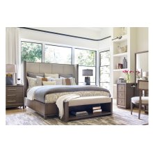 High Line by Rachael Ray King Upholstered Shelter Bed