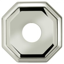 """2-5/8"""" dia. Thru-Bolted Traditional Octagonal Rose - Solid Brass"""
