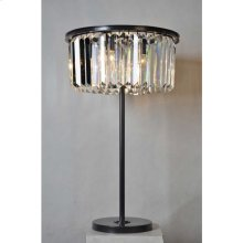 Crystal Round Table Lamp