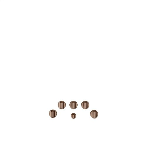 Café 5 Gas Cooktop Knobs - Brushed Copper