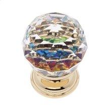 24k Gold 30 mm Round Prism Knob