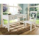 """Oslo Writing Desk, White 54""""x28""""x30"""" Product Image"""