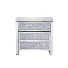 31.5 inch Crystal Cabinet Silver Royal Cut Crystal