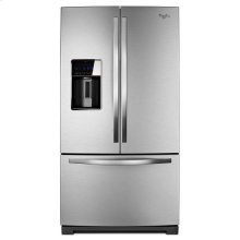 Monochromatic Stainless Steel Whirlpool® 29 cu. ft. French Door Smart Refrigerator with CoolVox™ Kitchen Sound System