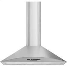 """Euro-Style Curved Wall-Mount Canopy Hood, 36"""", Euro-Style Stainless Handle"""