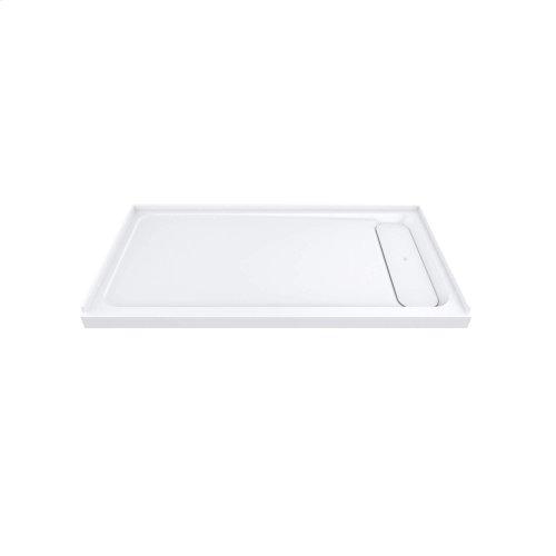 "DXV Modulus 60"" x 30"" Solid Surface Shower Base - Right Drain - Merino White"