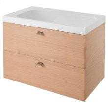 DXV Modulus 36-inch Vanity (Shown with Sink) - Natural Oak