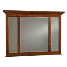 Three Panel Mirror with Crown Moulding