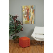 "Detour 15"" Orange Fabric Cube"