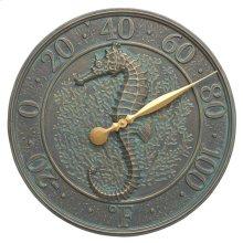 Seahorse Sealife Thermometer - Bronze Verdigris