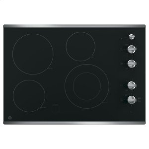 """GE® 30"""" Built-In Knob Control Electric Cooktop Product Image"""