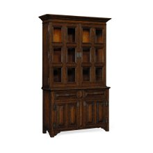 Tudorbethan Dark Oak China Cabinet
