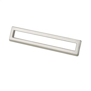 Bent Rectangular Pull 128mm or 160mm Polished Satin Nickel Product Image