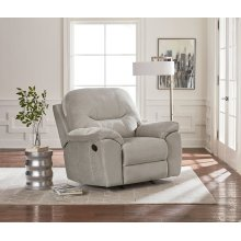 Manual Taupe Rocker Recliner