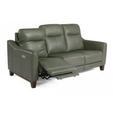 Forte Leather Power Reclining Sofa with Power Headrests