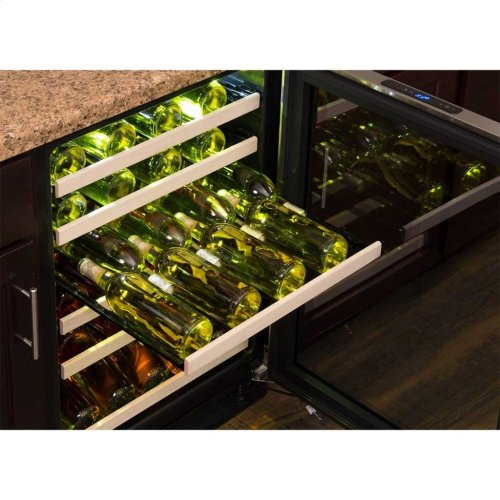 """Marvel 24"""" High Efficiency Single Zone Wine Refrigerator - Panel-Ready Framed Glass Door - Integrated Right Hinge (handle not included)*"""