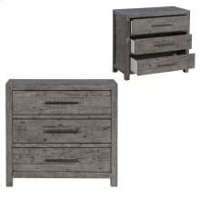 Pembroke Plantation Recycled Pine Distressed Grey 3 Drawer Chest