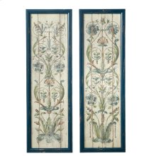 Framed Floral Scroll Wall Decor