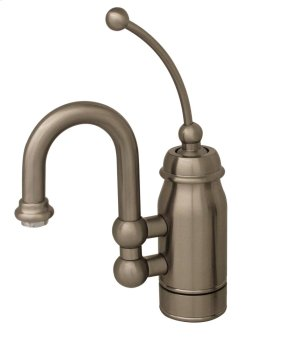 Baby Horizon single-handle entertainment/prep faucet with a curved extended stick handle and curved swivel spout Product Image